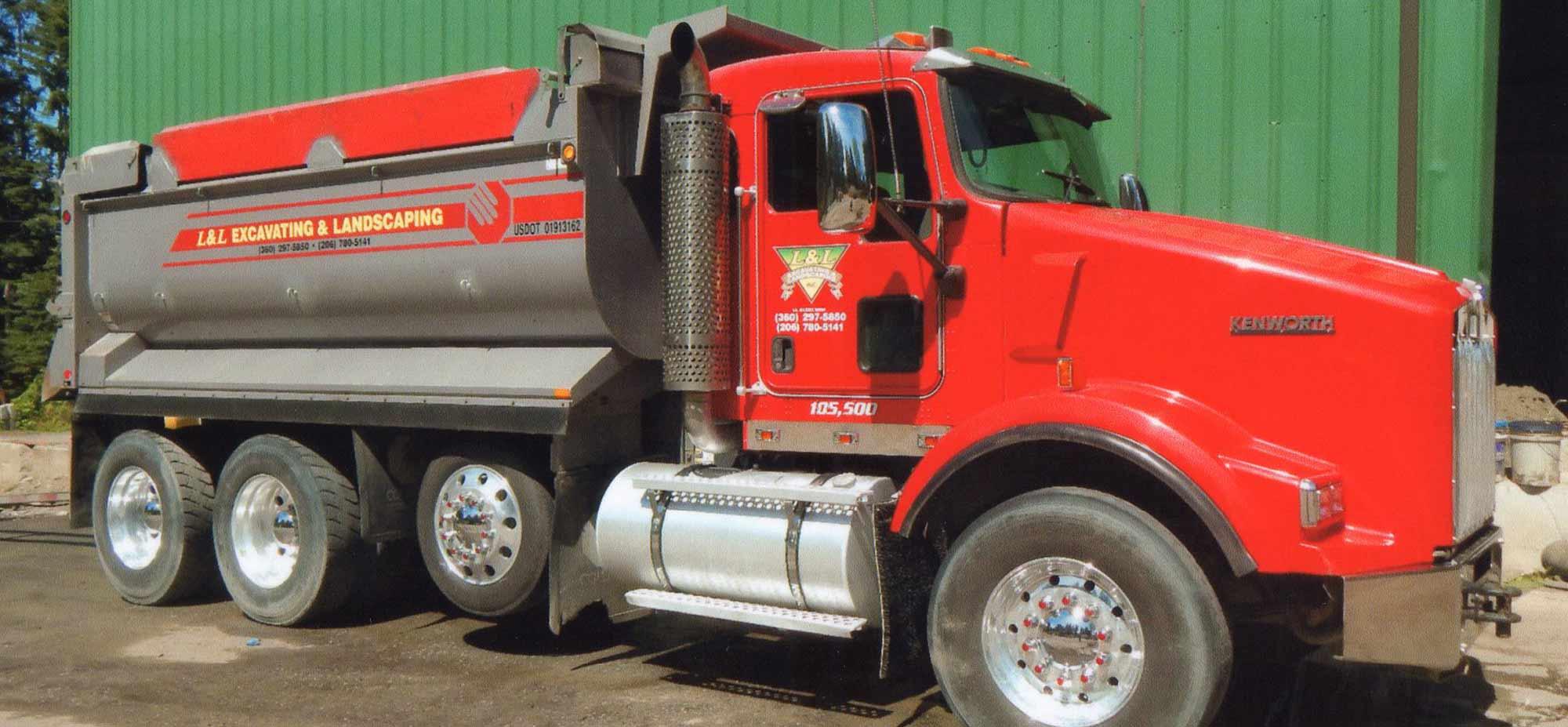 L & L Excavating & Landscaping Truck